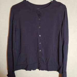 Croft and Barrow Navy Blue Cardigan Size XL